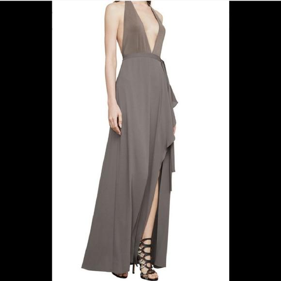 9d5689b70eba2 BCBGMaxAzria Dresses | Bcbg Maxazria Angeline Taupe Backless Halter ...